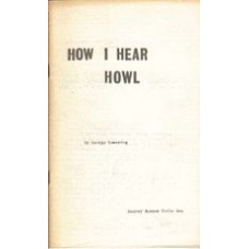 BOWERING, George: How I Hear Howl