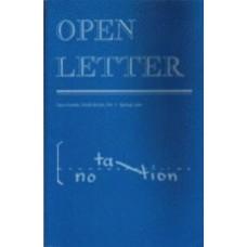 DAVEY, Frank [Ed]: OPEN LETTER 6:1. Notation