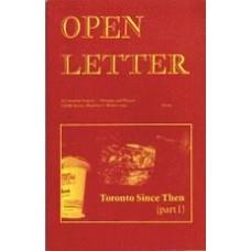 BURNHAM, Clint [Ed]: OPEN LETTER 8:8. Toronto Since Then (part 1)