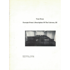 DEAN, Tom; DEWDNEY, Christopher: Excerpts From A Description of The Univers, III