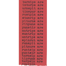 "NICHOL, bp. ""turnips are"" [Concrete Poem]"