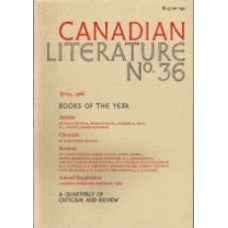 WOODCOCK, George (Ed): Canadian Literature No. 36, Spring, 1968: Books of The Year