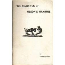 DAVEY, Frank: Five Readings of Olson's Maximus
